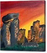 Stonehenge Sunrise Canvas Print