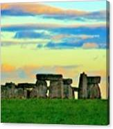Stonehenge Sunset In Spring Canvas Print