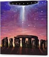 Stonehenge Ufo Canvas Print