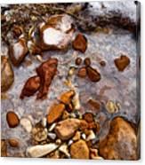 Stones And Ice Canvas Print