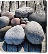 Stones And Old Wood 3  Canvas Print