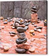 Stones In Balance Canvas Print