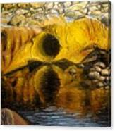 Stones Ocoee River In Tennessee Landscape Original Oil Paintings Canvas Print