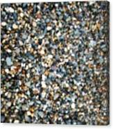 Stones On South Beach In Arklow Ireland Canvas Print