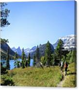Stoney Indian Pass Trail Around Cosley Lake - Glacier National Park Canvas Print