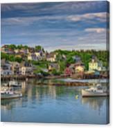 Stonington Harbor Canvas Print