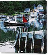 Stonington Harbor With Pier Maine Coast Canvas Print