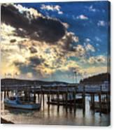 Stonington Lobster Boats Canvas Print