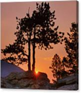 Stop Right Here - Rocky Mountain Np - Sunrise Canvas Print