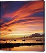 Store Bay, Tobago At Sunset #view Canvas Print