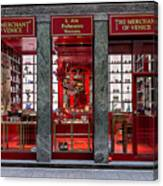 Store Front In Red Canvas Print