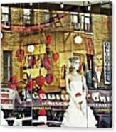 Store Front Wedding Canvas Print