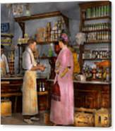 Store - In A General Store 1917 Canvas Print