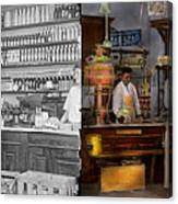 Store - In A General Store 1917 Side By Side Canvas Print