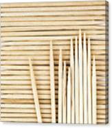 Stored Wooden Toothpicks Canvas Print