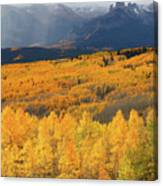 Storm At Ohio Pass During Autumn Canvas Print