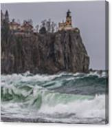 Storm At Split Rock Lighthouse Canvas Print