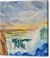 Storm At Sunset Canvas Print