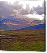 Storm Clouds Ahead In Connemara Canvas Print