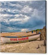 Storm Clouds In Stone Harbor Canvas Print