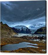 Storm Clouds Over A Glacier - Iceland Canvas Print