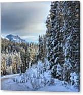Storm Clouds Over Bow Valley Parkway Canvas Print