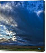 Storm Clouds Over Farmland #2 - Iceland Canvas Print