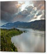 Storm Clouds Over Hood River Canvas Print