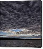 Storm Clouds Over Long Lake Canvas Print