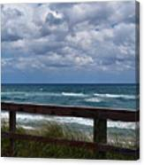 Storm Clouds Over The Beach Canvas Print