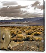Storm Clouds Over The Desert Canvas Print