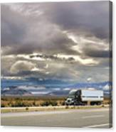 Storm Clouds Over The Highway Canvas Print
