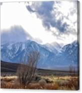 Storm Descending From The Sierras Canvas Print