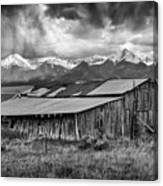 Storm In B And W Canvas Print