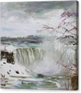 Storm In Niagara Falls  Canvas Print