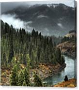 Storm In Snake River Canyon Canvas Print