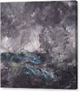 Storm In The Skerries. The Flying Dutchman Canvas Print