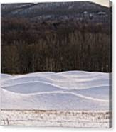 Storm King Wavefield In Snowy Dress Canvas Print