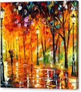 Storm Of Emotions - Palette Knife Oil Painting On Canvas By Leonid Afremov Canvas Print