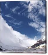 Storm On A Glacier Canvas Print