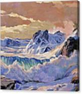 Storm On Pacific Coast Canvas Print