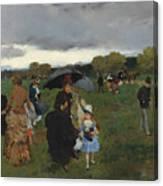 Storm On The Bois De Boulogne Canvas Print