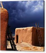 Storm On The Mesa Canvas Print