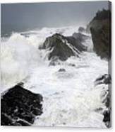 Storm On The Oregon Coast Canvas Print