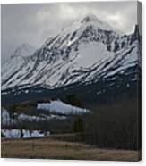 Storm On The Rocky Mountain Front Canvas Print