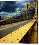 Storm Over Bridge Canvas Print