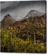 Storm Over Catalinas 15 Canvas Print