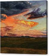 Storm Over Davis Mountains Canvas Print