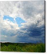 Storm Over Foothills Canvas Print