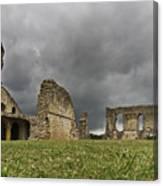 Storm Over Ruin Canvas Print